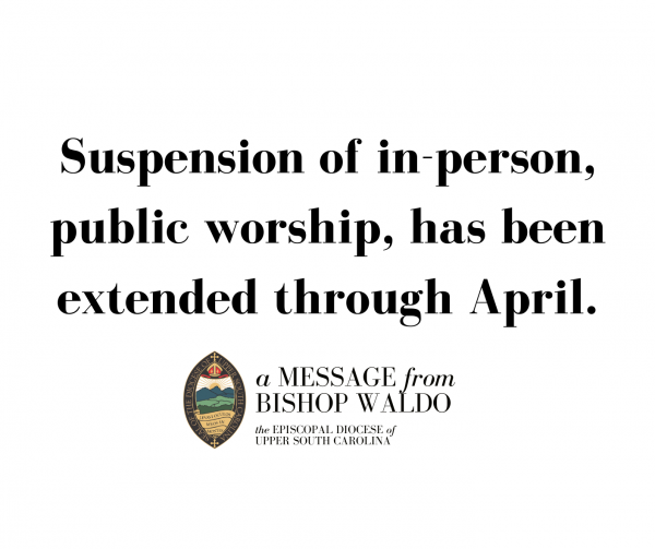 EDUSC Extends Suspension of In-Person Worship